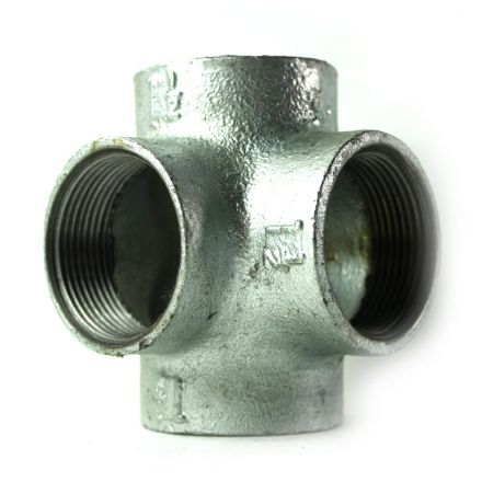 Thrifco Plumbing 5217099 1-1/2 Inch Galvanized Steel Side Outlet Tee