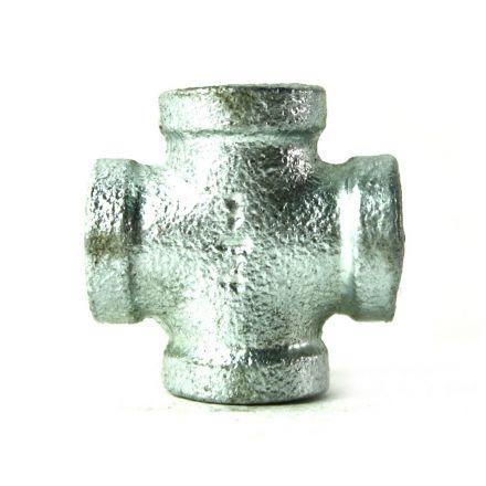 Thrifco Plumbing 5218003 1/4 Inch Galvanized Steel Cross
