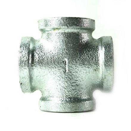 Thrifco Plumbing 5218007 1 Inch Galvanized Steel Cross
