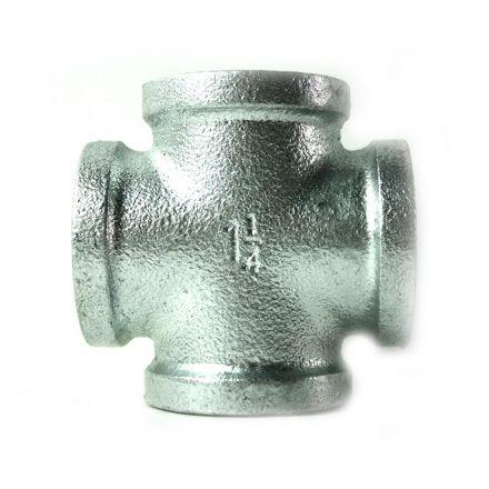 Thrifco Plumbing 5218010 2 Inch Galvanized Steel Cross