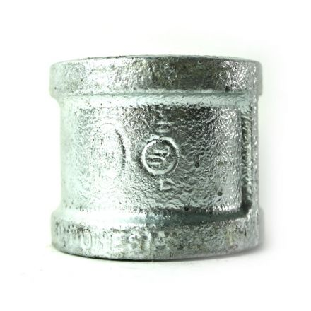 Thrifco Plumbing 5218024 1-1/2 Inch Galvanized Steel Coupling