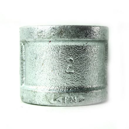 Thrifco Plumbing 5218025 2 Inch Galvanized Steel Coupling