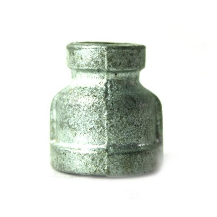 Thrifco Plumbing 5218028 3/8 Inch x 1/8 Inch Galvanized Steel Reducer Coupling