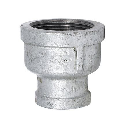 Thrifco Plumbing 5218036 1 Inch x 3/4 Inch Galvanized Steel Reducer Coupling