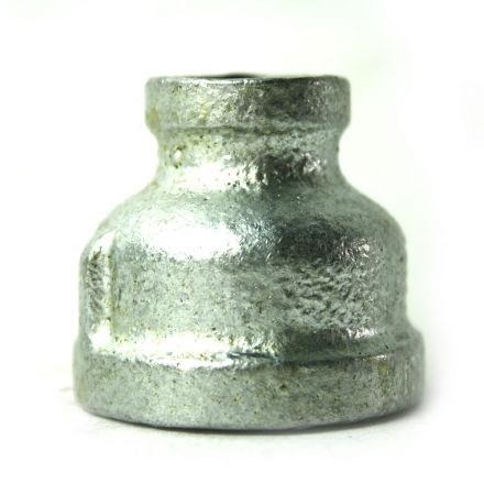 Thrifco Plumbing 5218038 1 Inch x 3/8 Inch Galvanized Steel Reducer Coupling