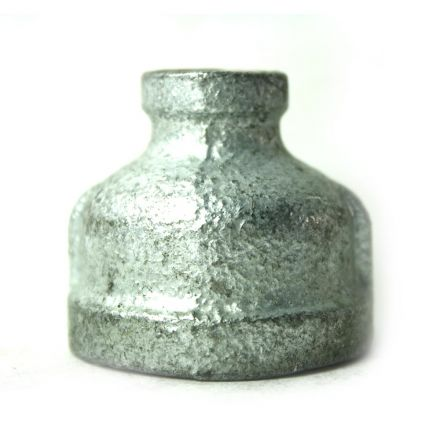 Thrifco Plumbing 5218039 1 Inch x 1/4 Inch Galvanized Steel Reducer Coupling