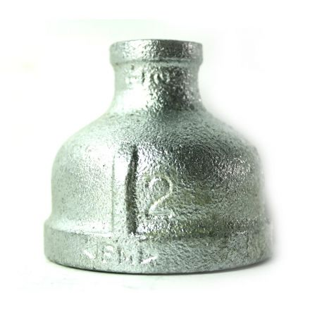 Thrifco Plumbing 5218051 2 Inch x 1/2 Inch Galvanized Steel Reducer Coupling
