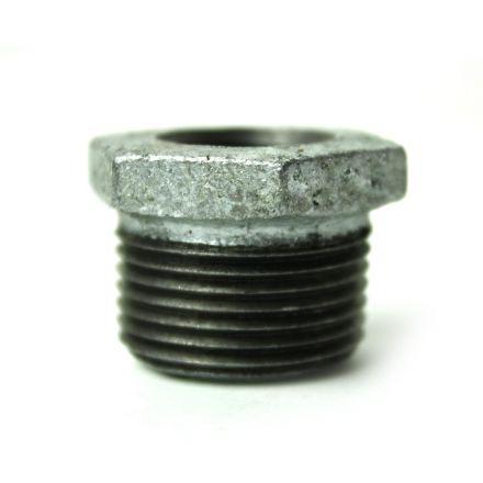 Thrifco Plumbing 5218062 3/4 Inch x 3/8 Inch Galvanized Steel Hex Bushing