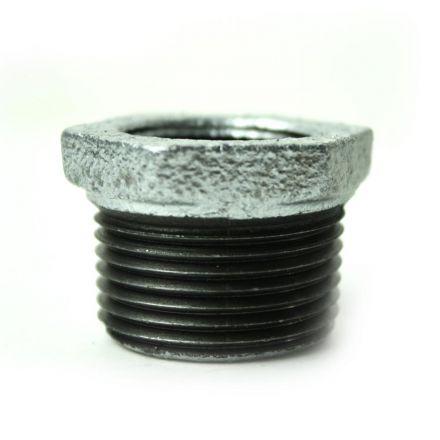 Thrifco Plumbing 5218065 1 Inch x 3/4 Inch Galvanized Steel Hex Bushing