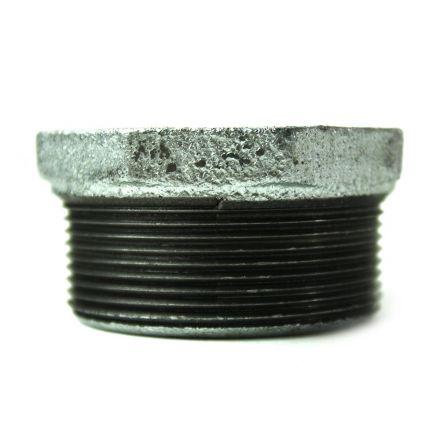 Thrifco Plumbing 5218075 2 Inch x 1-1/2 Inch Galvanized Steel Hex Bushing