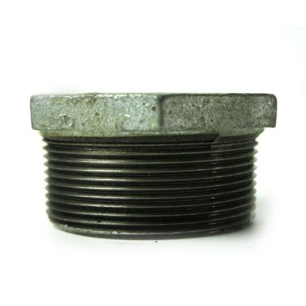 Thrifco Plumbing 5218076 2 Inch x 1-1/4 Inch Galvanized Steel Hex Bushing