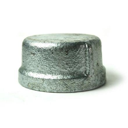 Thrifco Plumbing 5218086 1-1/4 Inch Galvanized Steel Cap