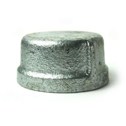 Thrifco Plumbing 5218087 1-1/2 Inch Galvanized Steel Cap