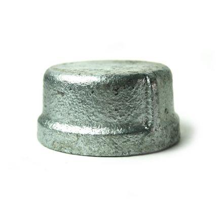 Thrifco Plumbing 5218088 2 Inch Galvanized Steel Cap