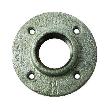 Thrifco Plumbing 5219027 1-1/2 Inch Galvanized Steel Floor Flange