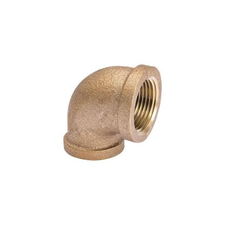 Thrifco Plumbing 5317013 1/2 X 3/8 Brass 90 Red. Elbow