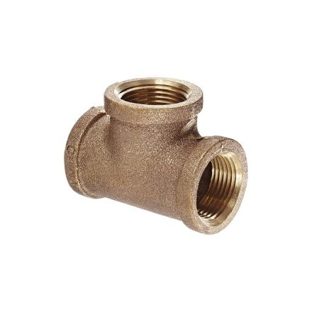 Thrifco Plumbing 5317071 1/2 X 1/2 X 3/8 Red Brass Tee