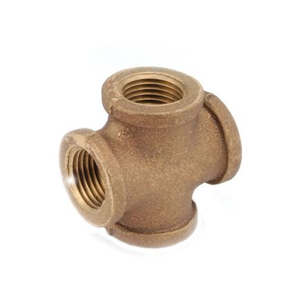 Thrifco Plumbing 5318003 1/4 Inch Brass Cross