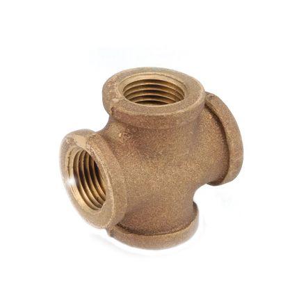 Thrifco Plumbing 5318004 3/8 Inch Brass Cross