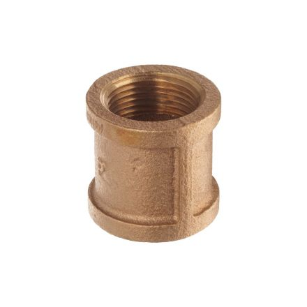 Thrifco Plumbing 5318019 3/8 Inch Brass Coupling