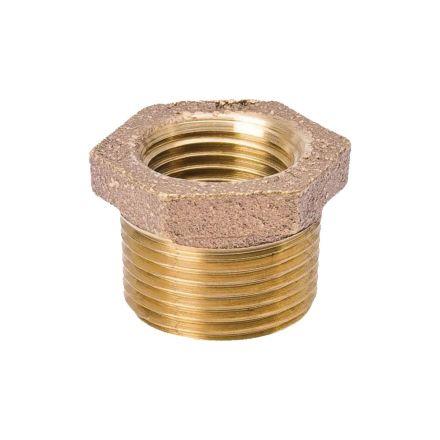 Thrifco Plumbing 5318057 3/8 X 1/4 Inch Brass Hex Bushing