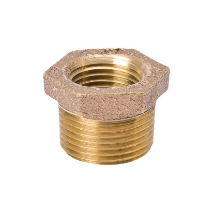 Thrifco Plumbing 5318062 3/4 X 3/8 Inch Brass Hex Bushing