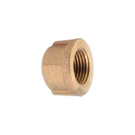 Thrifco Plumbing 5318082 3/8 Inch Brass Cap