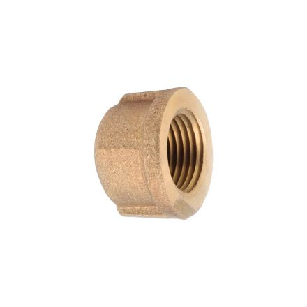 Thrifco Plumbing 5318088 2 Inch Brass Cap
