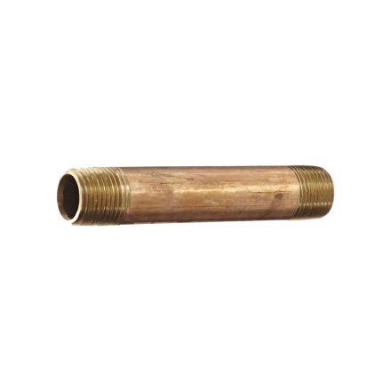 Thrifco Plumbing 5320100 2 Inch X 4 Inch Brass Nipple