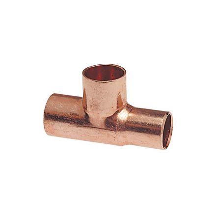 Thrifco Plumbing 5436061 1/2x1/2x3/4 Copper Reduc. Tee