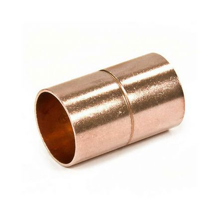 Thrifco Plumbing 5436081 1 1/4 Copper Coupling W/Stop