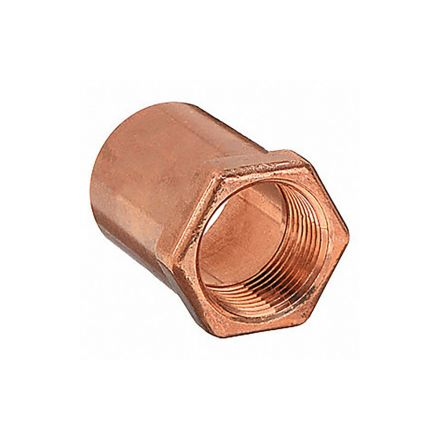 Thrifco Plumbing 5436129 1/2 Cop X 3/4ip Female Adapter