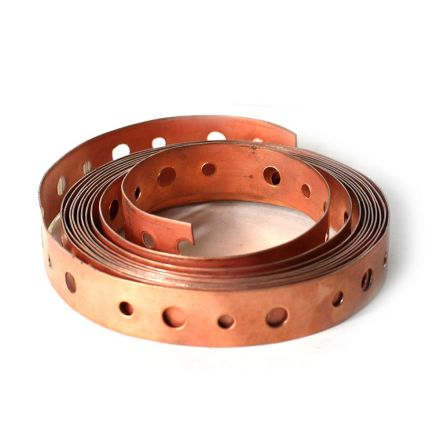 Thrifco Plumbing 5436254 10' Copper Coated Hanger Strap 3/4 Inch x 10 feet