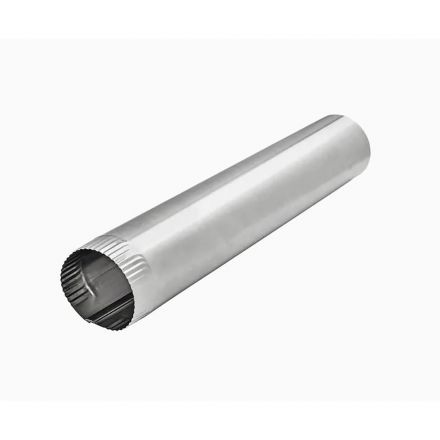 Thrifco Plumbing 5528089 4 Inch x 24 Inch Aluminum Round Duct Vent Pipe