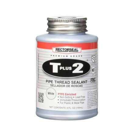 Thrifco Plumbing 6311996 #23631 4-OZ Tube T Plus 2 Pipe Thread Sealant with PTFE - 1/4 Pint
