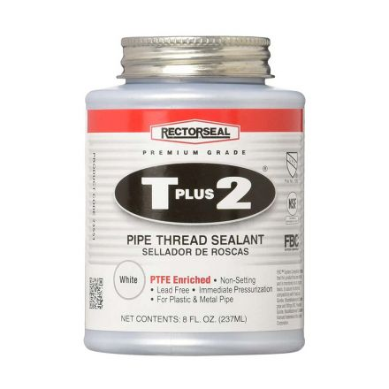 Thrifco Plumbing 6311997 #23551 8-OZ Tube T Plus 2 Pipe Thread Sealant with PTFE - 1/2 Pint