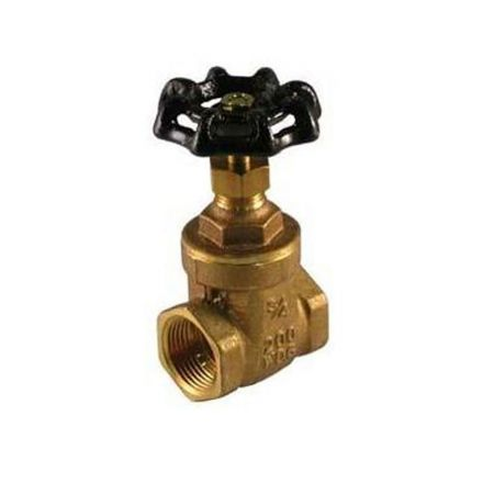 Thrifco Plumbing 6415007 1 1/2 Ips Gate Valve Brass
