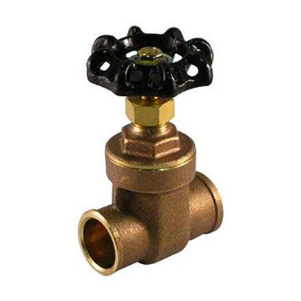 Thrifco Plumbing 6415015 1 Inch C X C Gate Valve Brass