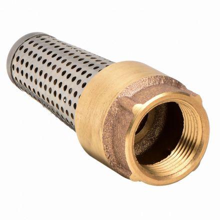 Thrifco Plumbing 6415164 2 Inch Brass Foot Valve