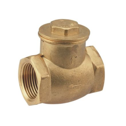 Thrifco Plumbing 6415174 1 1/4 Ip Brass Swing Check Va