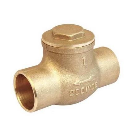 Thrifco Plumbing 6415178 1/2 C X C Brass Swing Check Vl