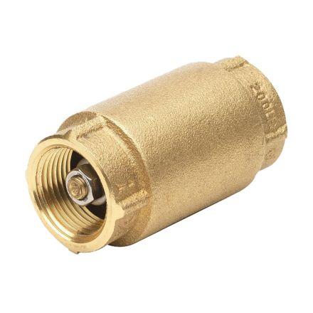 Thrifco Plumbing 6415404 1-1/4 Inch Brass Spring Check Valv
