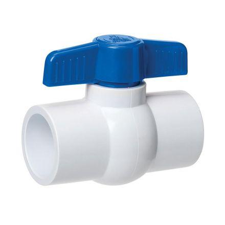 Thrifco Plumbing 6415412 1 Inch PVC Slip Ball Valve - Blue Handle