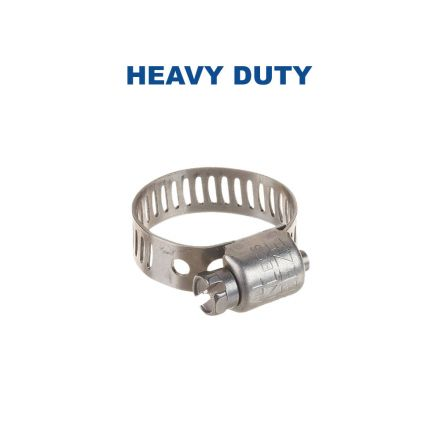 Thrifco Plumbing 6519508 64008H  #8 Power Seal High Torque Hose Clamp 1/2 Inch to 29/32 Inch - 13mm to 23mm Range