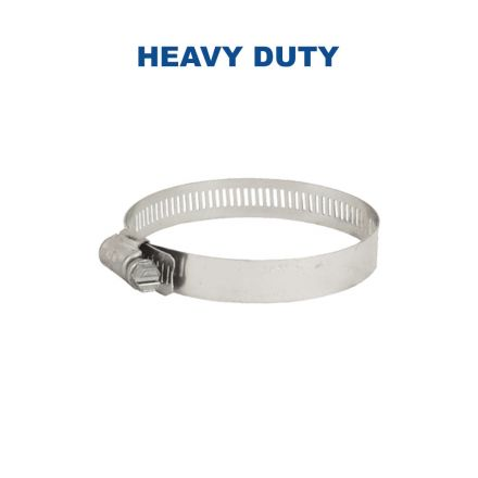 Thrifco Plumbing 6519580 64080H  #80 Power Seal High Torque Hose Clamp 2-1/2 Inch to 5-1/2 Inch - 64mm to 140mm Range
