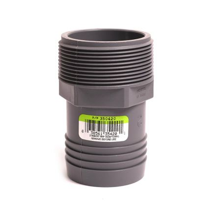 Thrifco Plumbing 6521006 2 Inch INSERT MALE ADAPTER