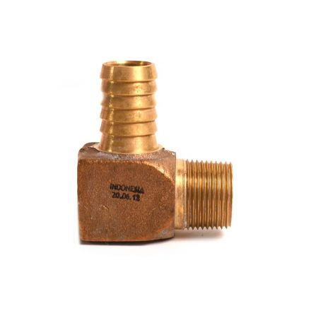Thrifco Plumbing 6522126 3/4 BRASS INSERT MALE COMB ELL
