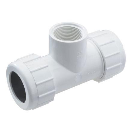 Thrifco Plumbing 6622191 1 1/4 PVC St Comp. Tee