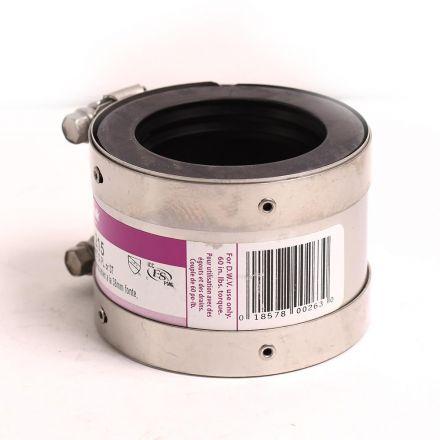 Thrifco Plumbing 6722799 2 x 1-1/2 Shielded No-Hub Coupling