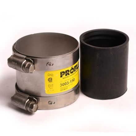 Thrifco Plumbing 6722807 1-1/2 Inch CPR x CPR No Hub Coupling